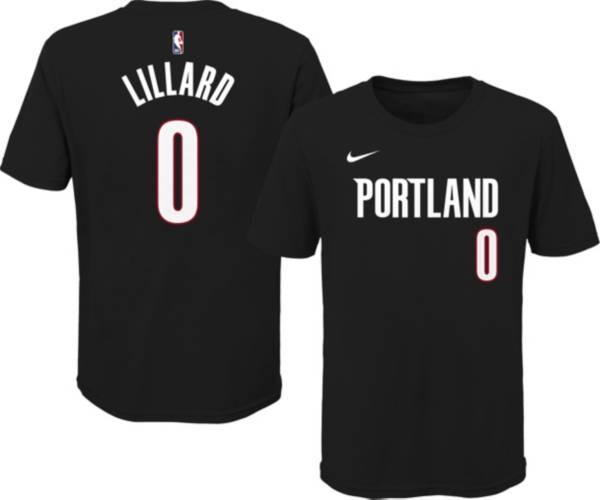 Nike Youth Portland Trail Blazers Damian Lillard #0 Cotton Black T-Shirt product image