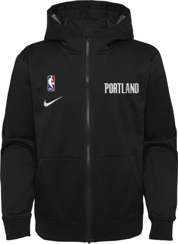 Nike Youth Portland Trail Blazers Black Spotlight Full-Zip Hoodie product image