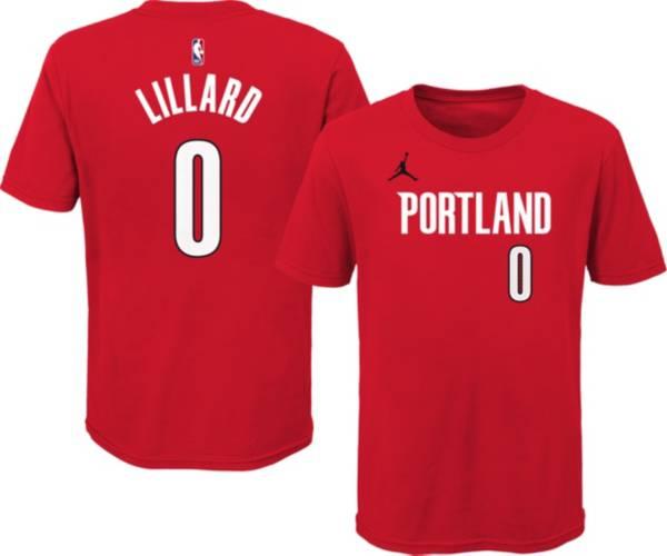 Jordan Youth Portland Trail Blazers Damien Lillard #0 Red Statement T-Shirt product image