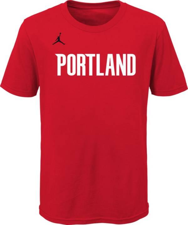 Jordan Youth Portland Trail Blazers Red Statement T-Shirt product image