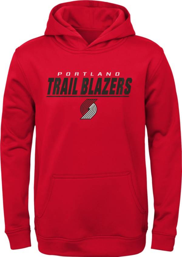 Gen2 Youth Portland Trail Blazers Red Static Pullover Hoodie product image