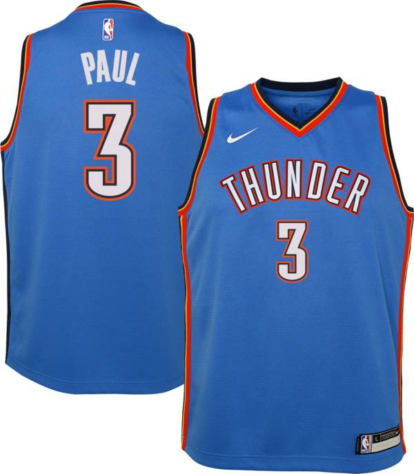 Nike Youth Oklahoma City Thunder Chris Paul #3 Blue Dri-FIT Swingman Jersey product image