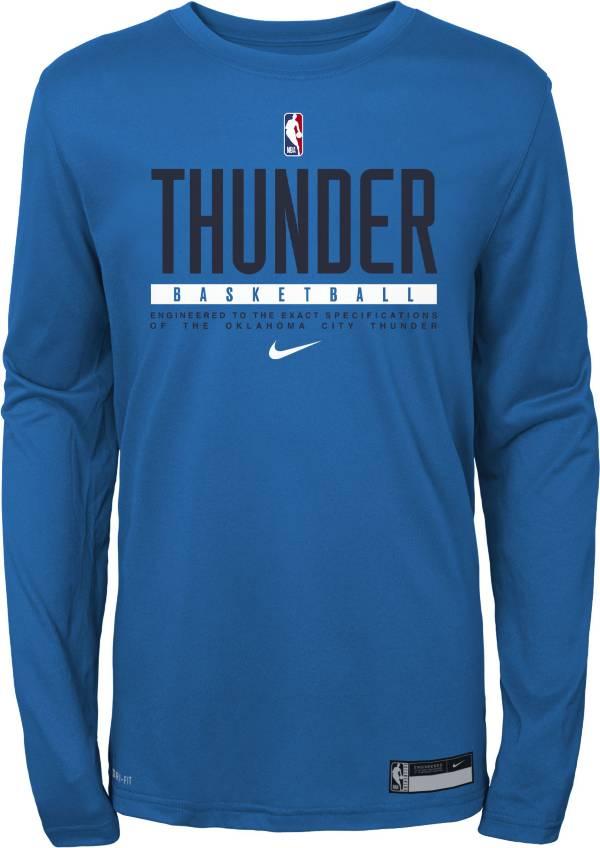 Nike Youth Oklahoma City Thunder Practice Performance Long Sleeve T-Shirt product image