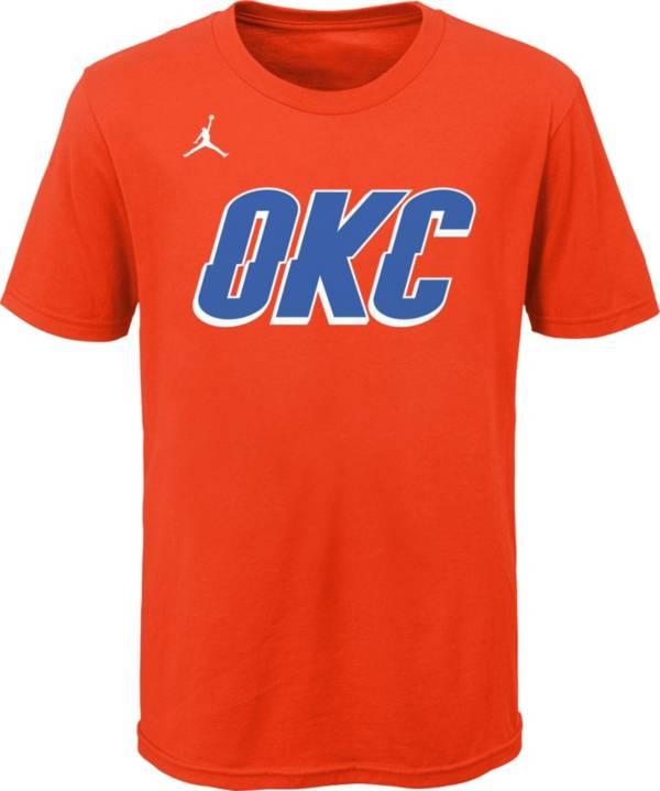 Jordan Youth Oklahoma City Thunder Orange Statement T-Shirt product image