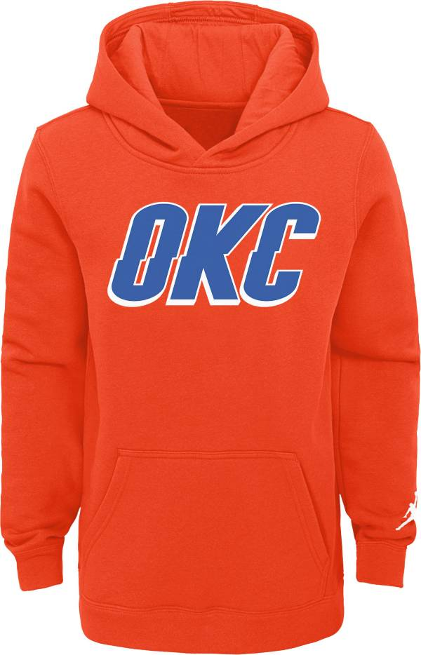 Jordan Youth Oklahoma City Thunder Orange Statement Pullover Hoodie product image