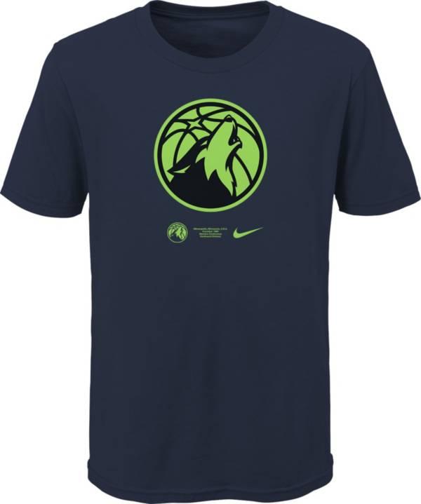 Nike Youth Minnesota Timberwolves Blue Logo T-Shirt product image