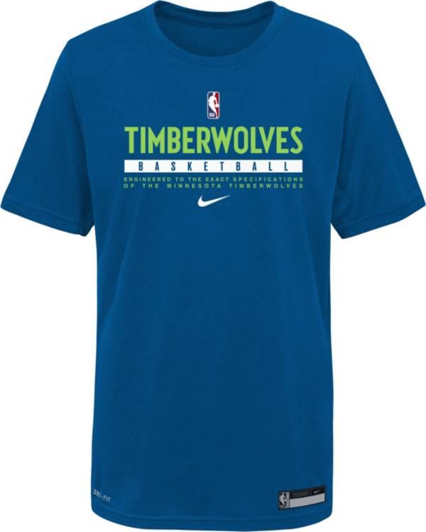 Nike Youth Minnesota Timberwolves Blue Practice Performance T-Shirt product image