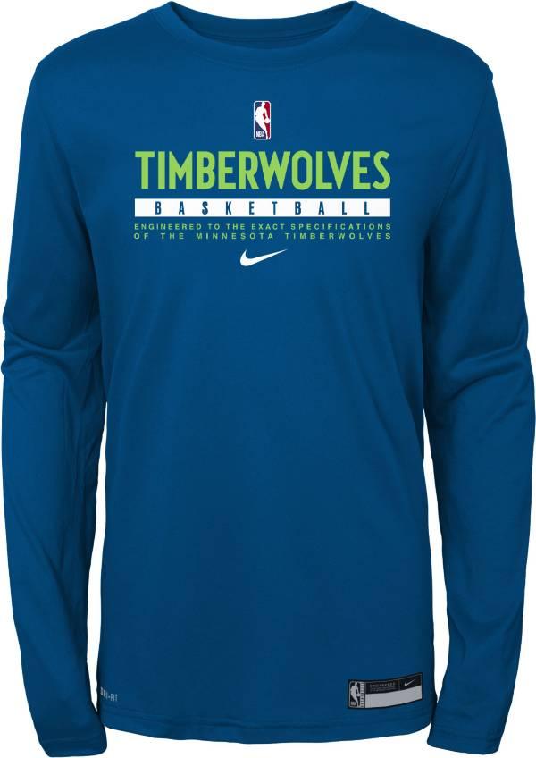 Nike Youth Minnesota Timberwolves Practice Performance Long Sleeve T-Shirt product image