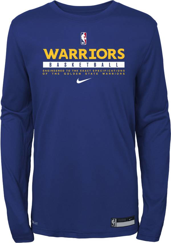 Nike Youth Golden State Warriors Practice Performance Long Sleeve T-Shirt product image