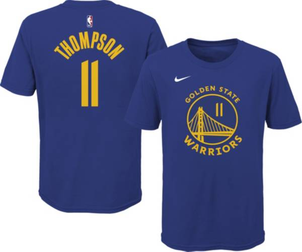 Nike Youth Golden State Warriors Klay Thompson #11 Blue Cotton T-Shirt product image