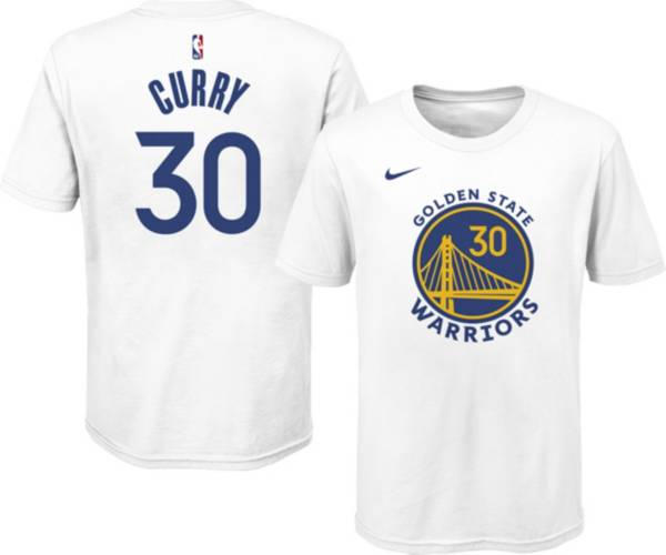 Nike Youth Golden State Warriors Steph Curry #30 Cotton White T-Shirt product image