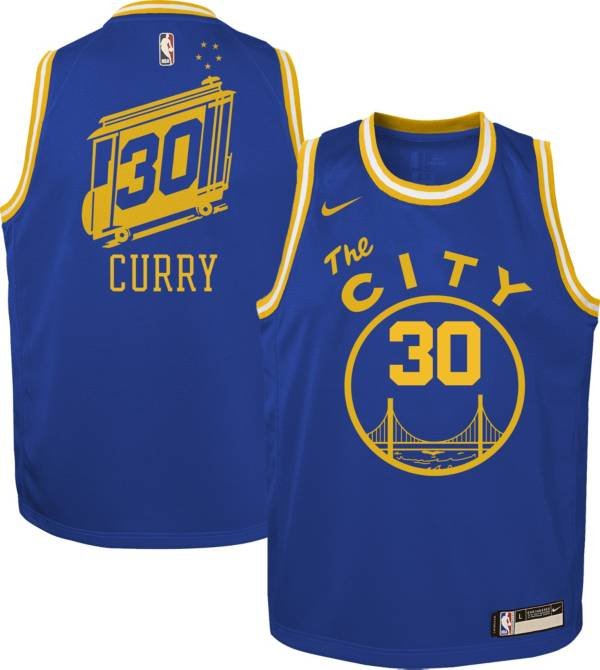 Nike Youth Golden State Warriors Steph Curry #30 Blue Dri-FIT Hardwood Classic Jersey product image