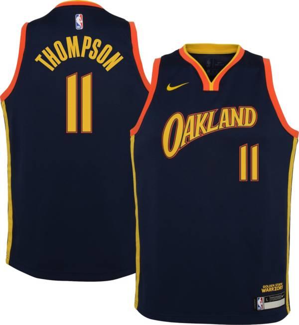 Nike Youth 2020-21 City Edition Golden State Warriors Klay Thompson #11 Dri-FIT Swingman Jersey