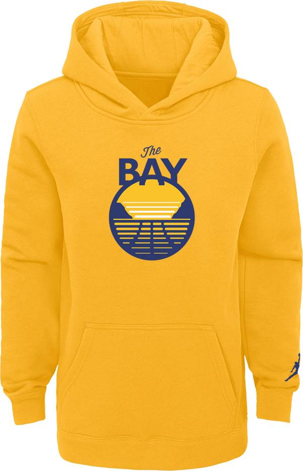 Jordan Youth Golden State Warriors Yellow Statement Pullover Hoodie product image