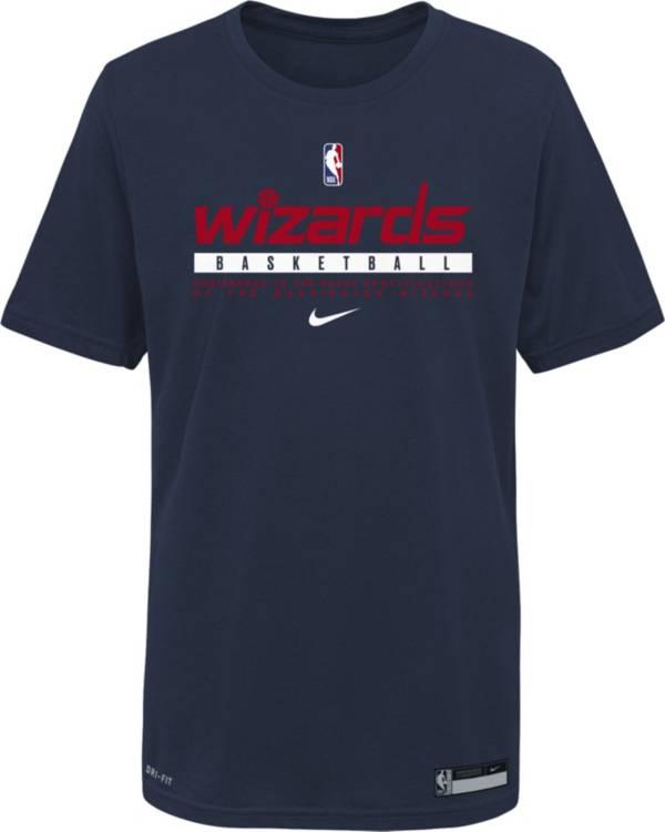 Jordan Youth Washington Wizards Blue Practice Performance T-Shirt product image