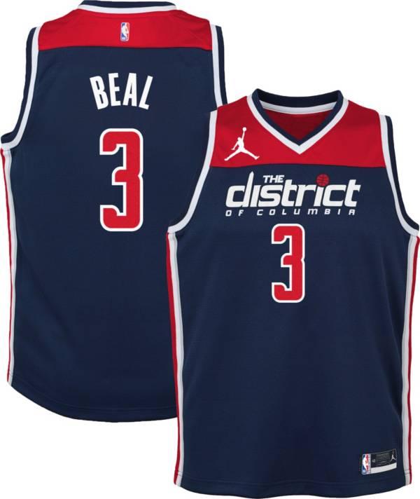 Jordan Youth Washington Wizards Bradley Beal #3 Navy 2020-21 Dri-FIT Statement Swingman Jersey product image