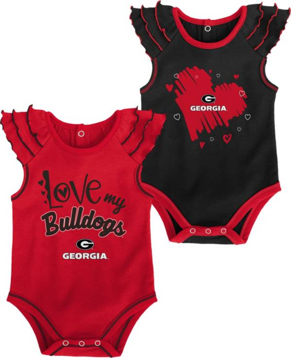 Gen2 Infant Georgia Bulldogs Red 2-Piece Onesie Set product image