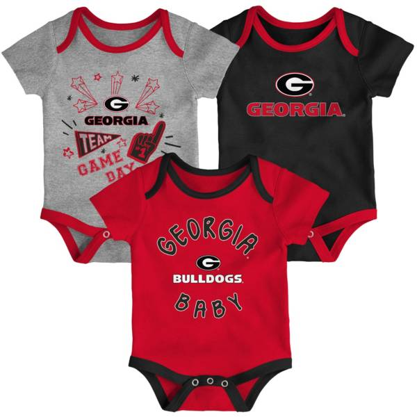 Gen2 Infant Georgia Bulldogs Red Champ 3-Piece Onesie Set product image