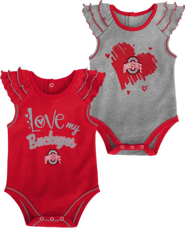Gen2 Infant Ohio State Buckeyes Scarlet 2-Piece Onesie Set product image