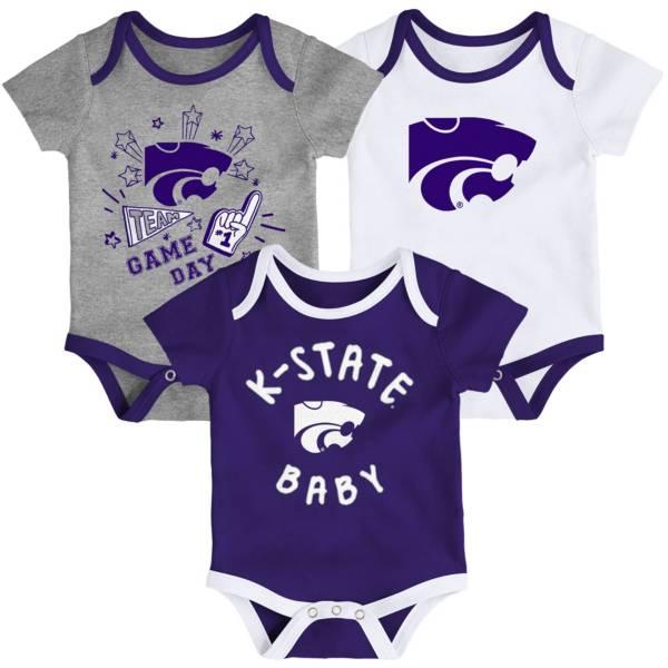 Gen2 Infant Kansas State Wildcats Purple Champ 3-Piece Onesie Set product image