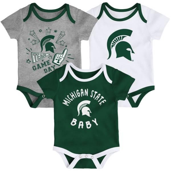 Gen2 Infant Michigan State Spartans Green Champ 3-Piece Onesie Set product image