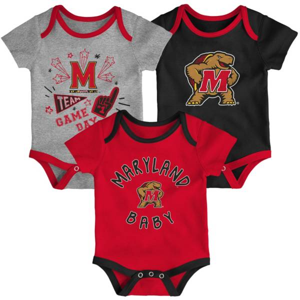Gen2 Infant Maryland Terrapins Red Champ 3-Piece Onesie Set product image