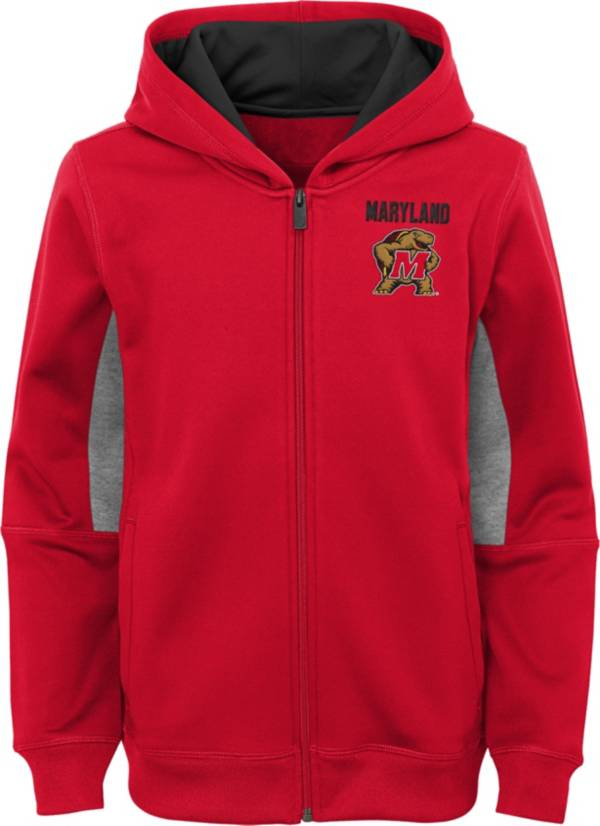 Outerstuff Youth Maryland Terrapins Performance Long Sleeve Red Full-Zip Jacket product image