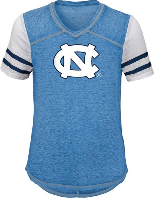 Gen2 Youth Girls' North Carolina Tar Heels Carolina Blue Football School Spirit T-Shirt product image