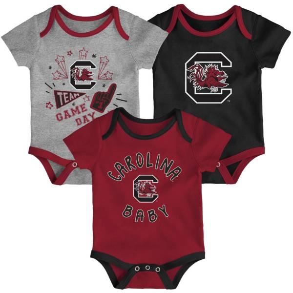 Gen2 Infant South Carolina Gamecocks Garnet Champ 3-Piece Onesie Set product image