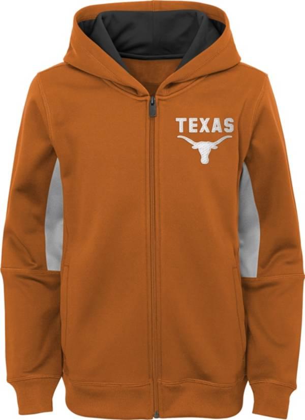Outerstuff Youth Texas Longhorns Performance Long Sleeve Orange Full-Zip Jacket product image