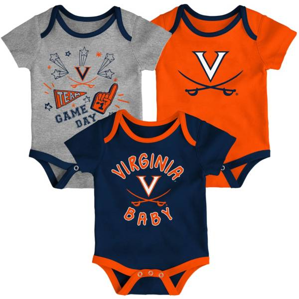 Gen2 Infant Virginia Cavaliers Blue Champ 3-Piece Onesie Set product image