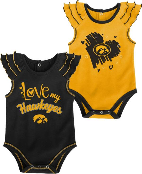 Gen2 Infant Iowa Hawkeyes 2-Piece Onesie Black Set product image