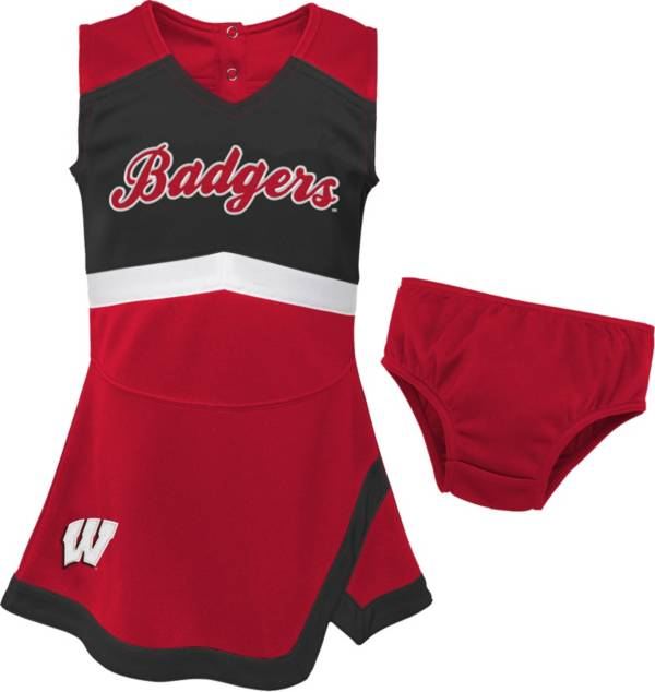 Gen2 Youth Girls' Wisconsin Badgers Red Cheer Captain 2-Piece Jumper Dress product image