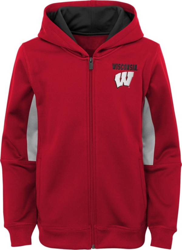 Outerstuff Youth Wisconsin Badgers Performance Long Sleeve Red Full-Zip Jacket product image