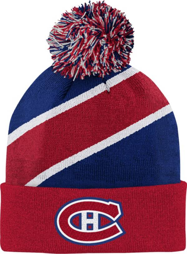 NHL Youth Montreal Canadiens Special Edition Diagonal Stripe Blue Pom Knit product image