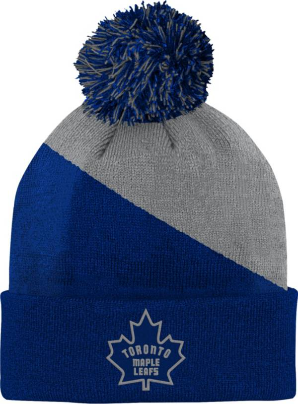 NHL Youth Toronto Maple Leafs Special Edition Diagonal Stripe Blue Pom Knit product image