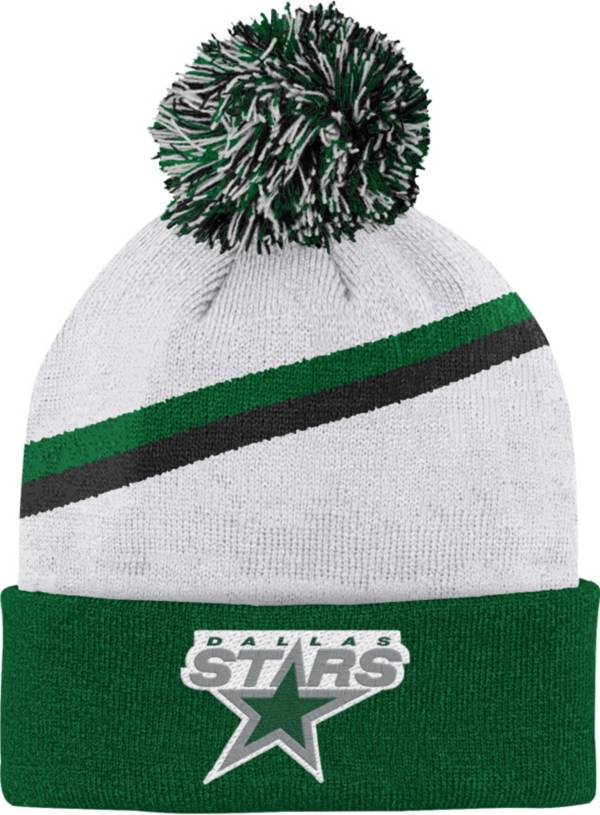 NHL Youth Dallas Stars Special Edition Diagonal Stripe Green Pom Knit Beanie product image