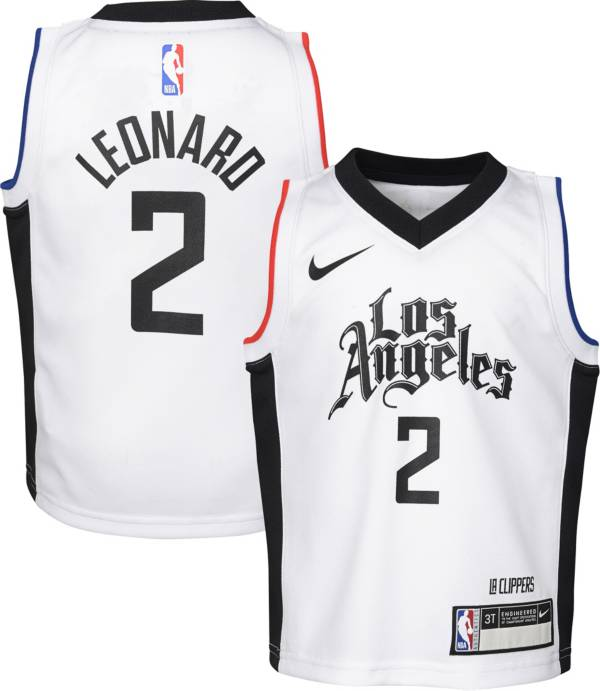 Nike Boys Los Angeles Clippers Kawhi Leonard #2 White Dri-FIT Swingman Jersey product image