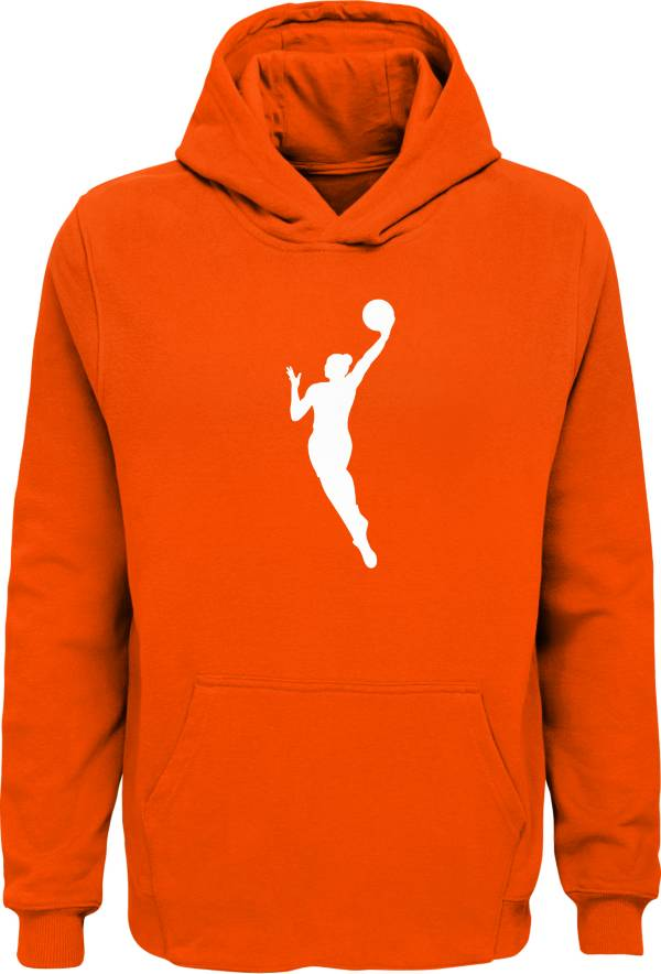 WNBA Youth Primary Logo Orange Pullover Hoodie product image
