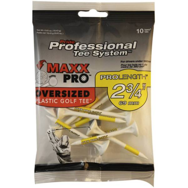 Pride Sports Professional Tee System 2.75'' MAXX Pro Oversized Plastic Golf Tees - 12 Pack product image