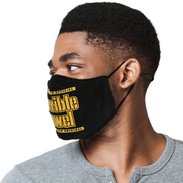 Pittsburgh Steelers Adult Terrible Towel Face Mask - Black product image
