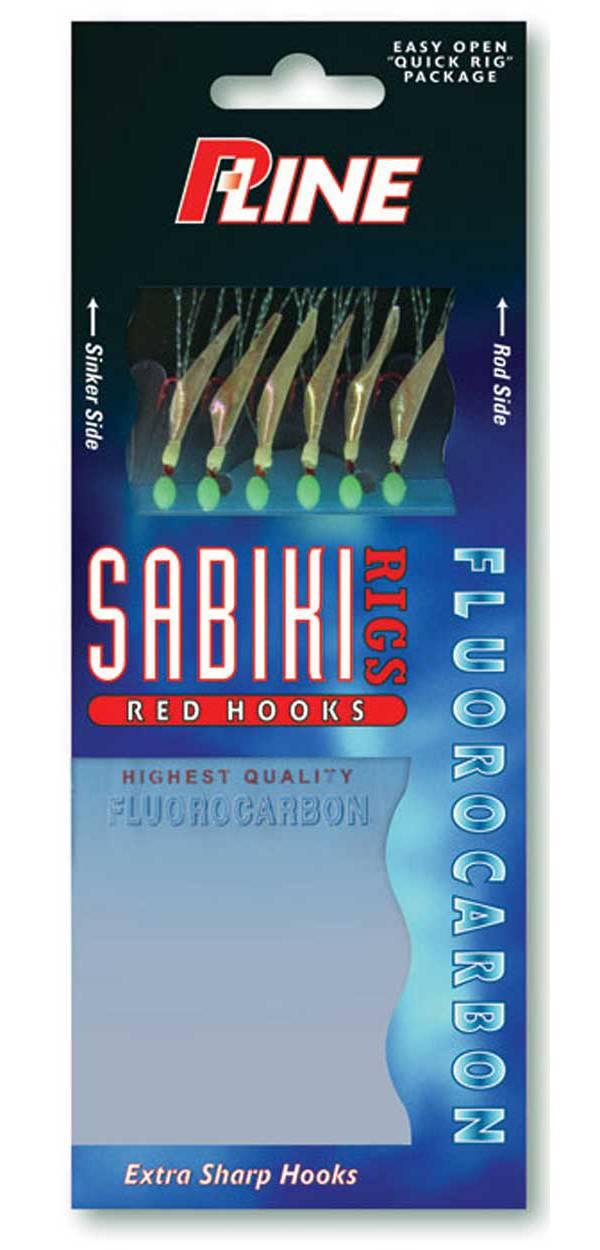 P-Line Sabiki Fluorocarbon Red Hooks product image