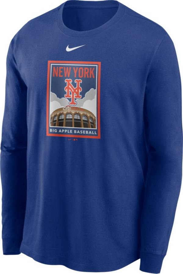 Nike Men's New York Mets Blue Icon Long Sleeve T-Shirt product image