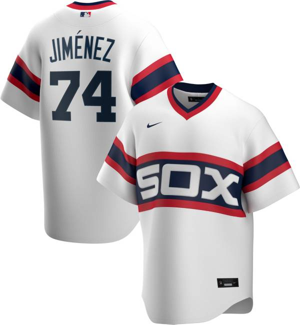 Nike Men's White Sox Eloy Jimenez #74 Cooperstown V-Neck Pullover Jersey product image