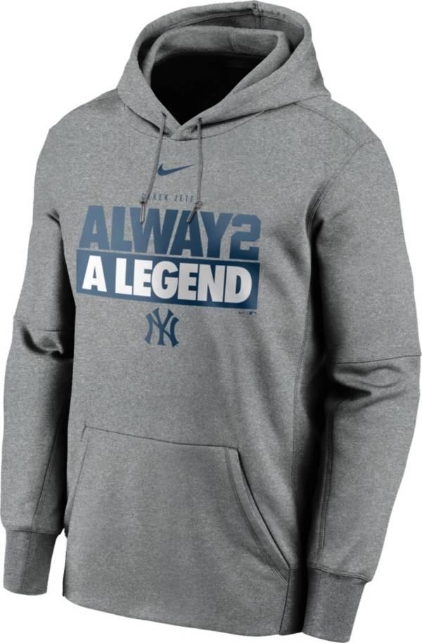 Nike Men's New York Yankees Derek Jeter 'Always a Legend' Gray Pullover Hoodie product image