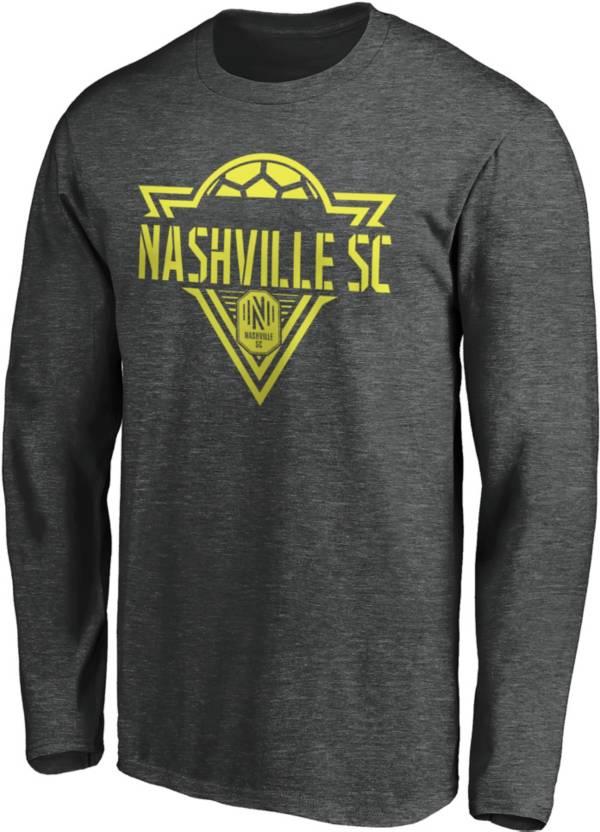 MLS Men's Nashville SC Iconic Phalanx Gray Long Sleeve Shirt product image
