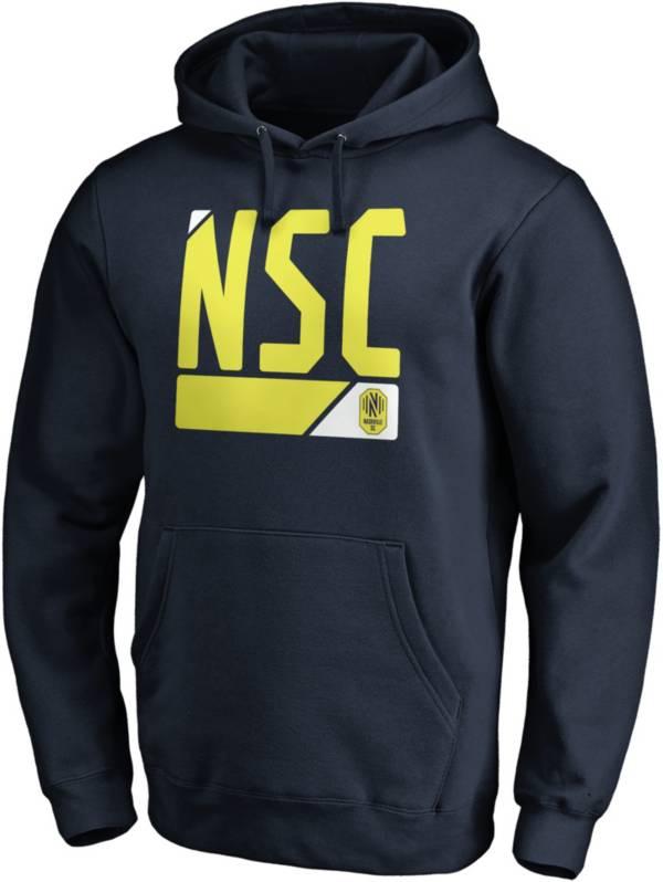 MLS Men's Flag Nashville SC Navy Tri-Blend Pullover Hoodie product image