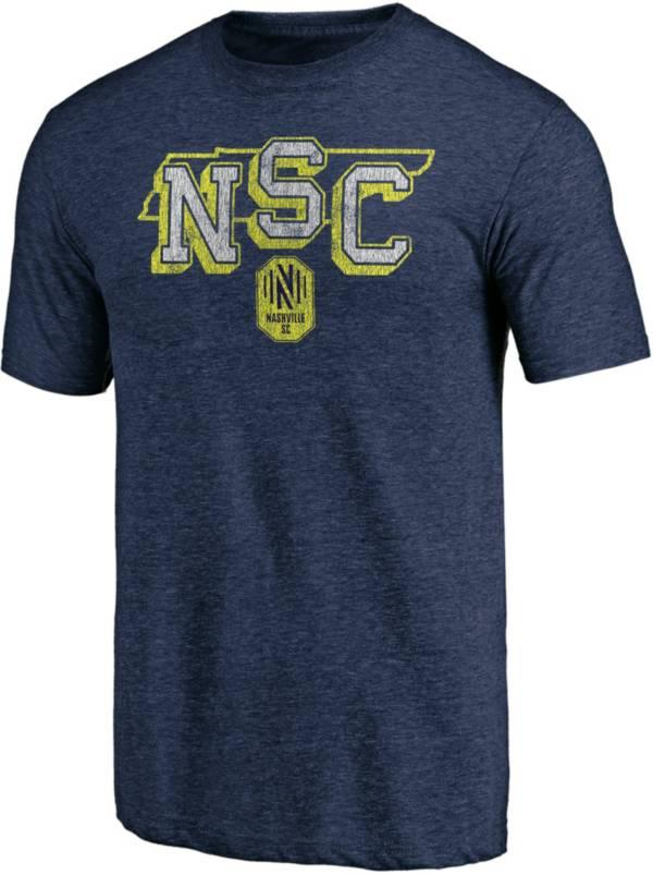 MLS Men's Nashville SC State Navy Heathered Tri-Blend T-Shirt product image