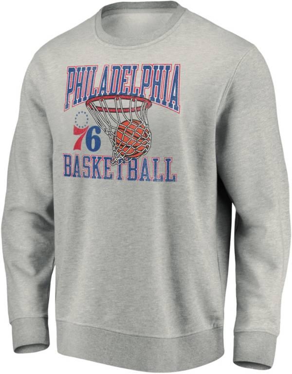 NBA Men's Philadelphia 76ers Gray Bucket Crewneck Hoodie product image