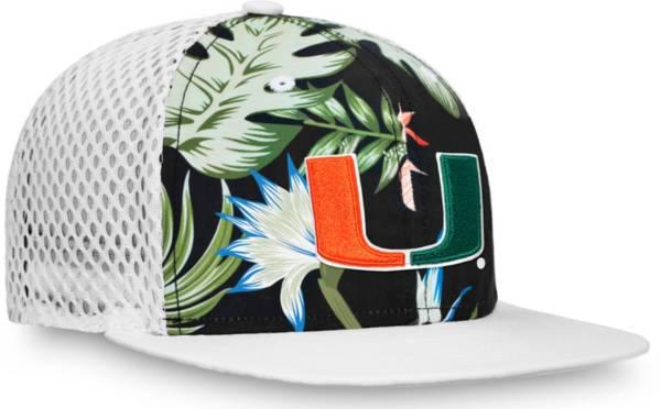 NCAA Men's Miami Hurricanes Palms Trucker Black Hat product image
